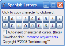 Spanish Letters - A tiny program to generate accented Spanish letters ...